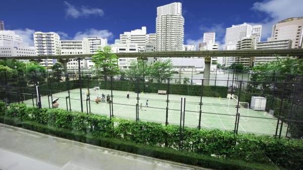 芝浦アイランドグローヴタワーのテニスコート