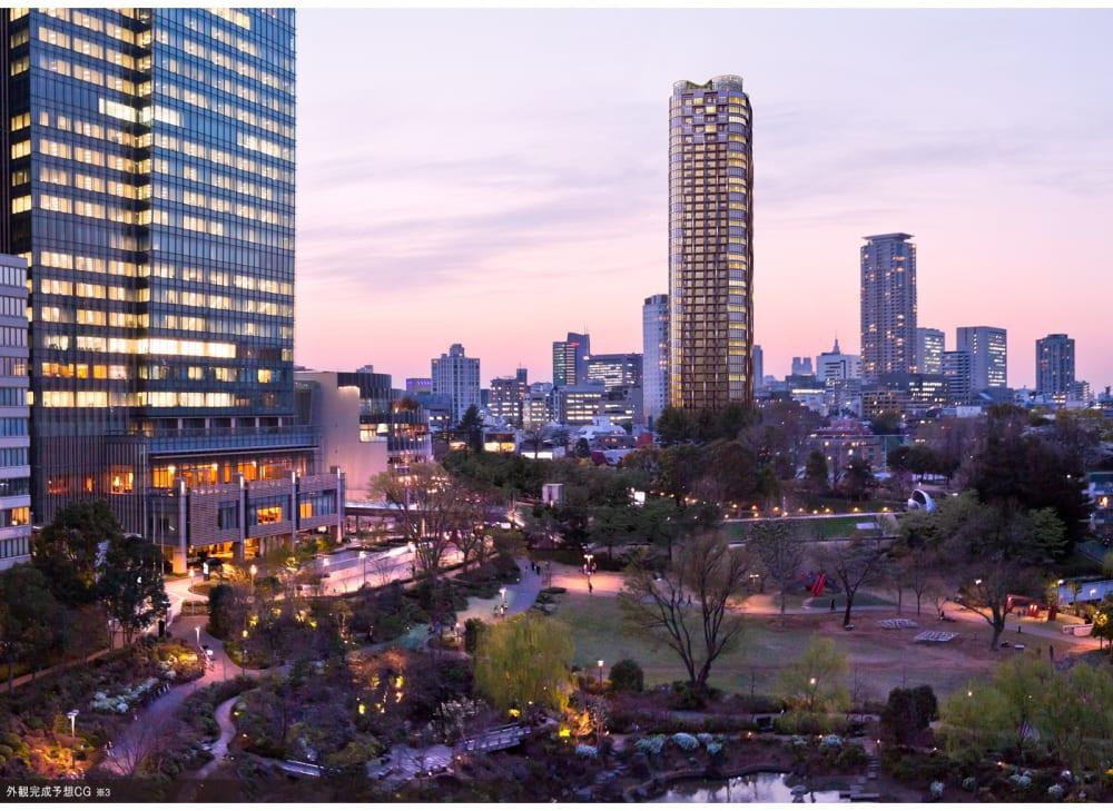 パークコート赤坂檜町ザ・タワーの外観