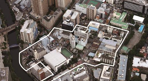 開発前の大崎駅周辺