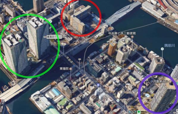 クレストシティレジデンス、THE TOKYO TOWERS、勝どきビュータワー