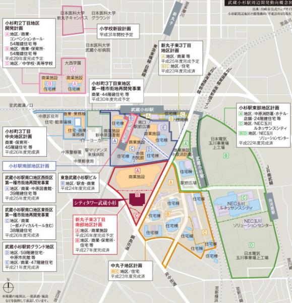 武蔵小杉駅周辺の情報