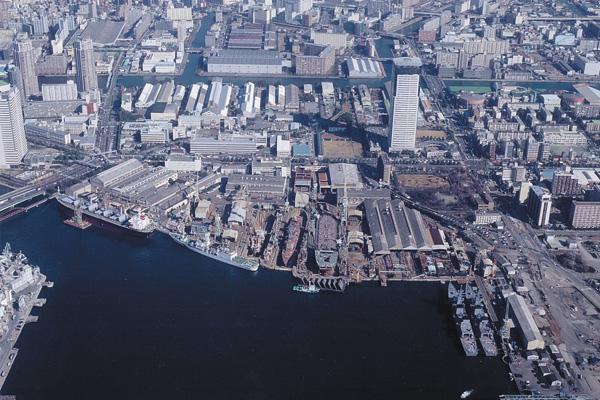 豊洲の昔の造船工場