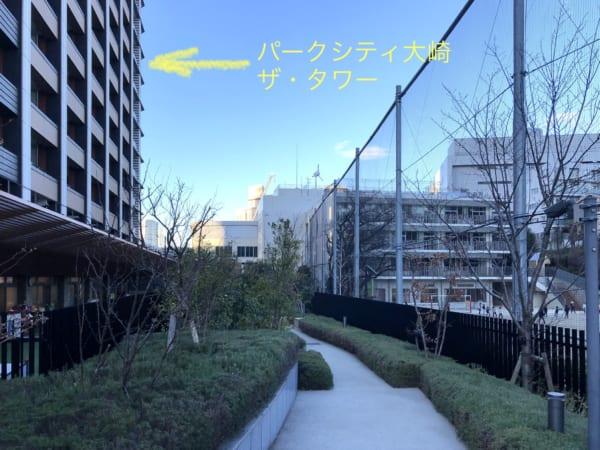 パークシティ大崎ザ・タワー 御殿山小学校側