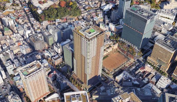五反田に佇むパークタワーグランスカイ