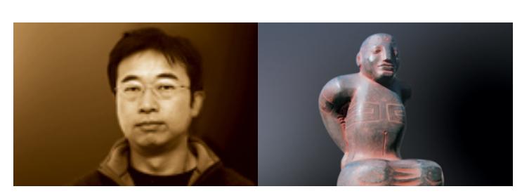 ガレリアグランデ 彫刻家の六田貴之氏