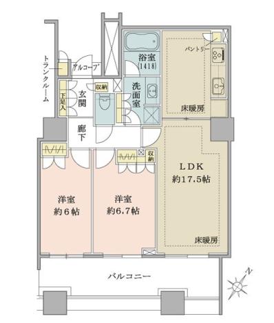 ガレリアグランデ 有明タワーマンションのお部屋事例