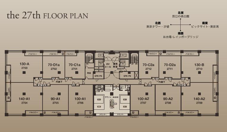ガレリアグランデ 27階 フロアプラン