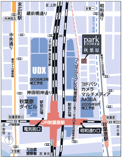 秋葉原駅周辺地図