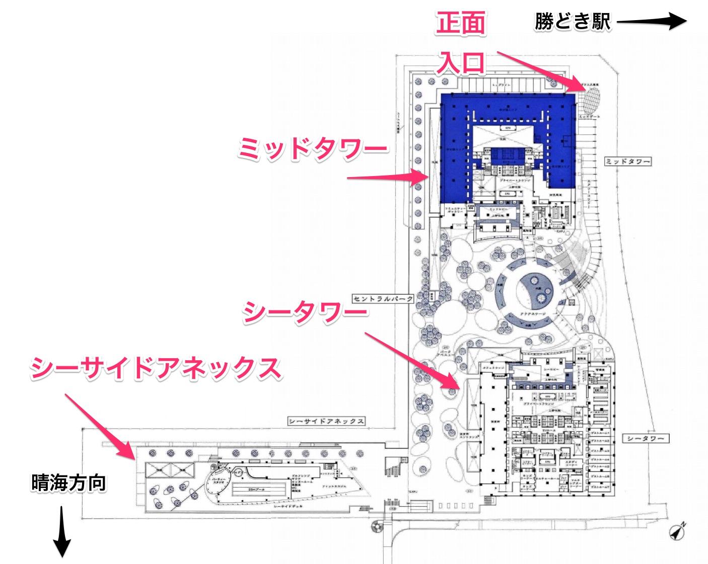 ザ東京タワーズの敷地図