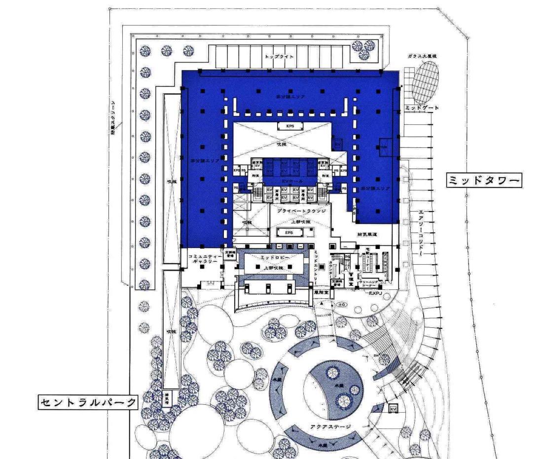 ミッドタワーザ東京タワーズの敷地図