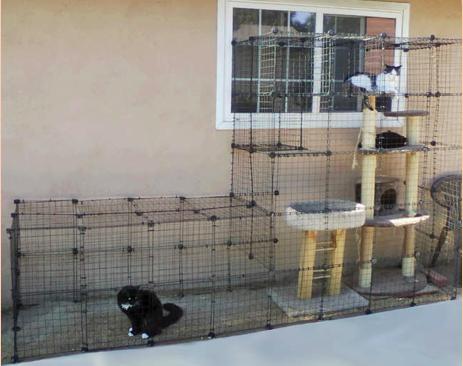 ワイヤーネットで作るおしゃれな小屋