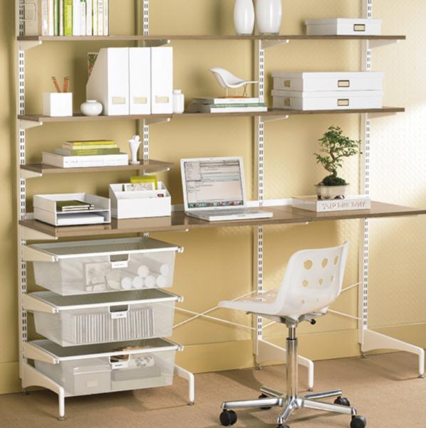ダボレールを使った書斎の収納実例