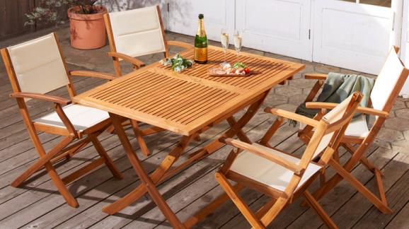 ガーデンセットテーブル+肘なしチェア