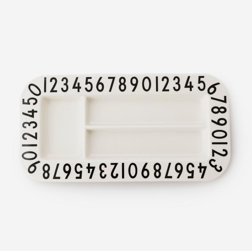 DESIGN LETTERS MELAMINE RECT SNACKPLATE
