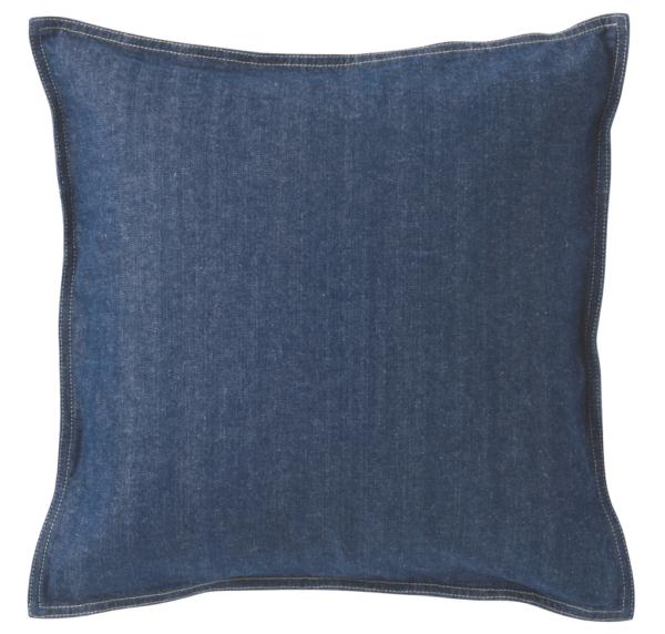 綿デニムクッションカバー ブルー