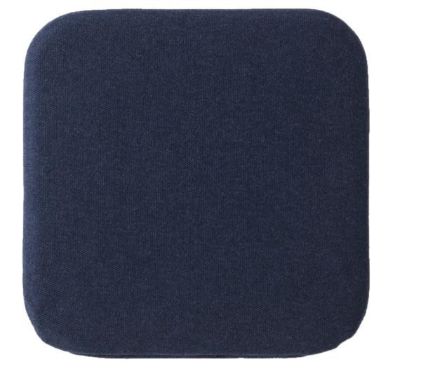 ウレタンフォーム低反発シートクッション角型 杢ネイビー