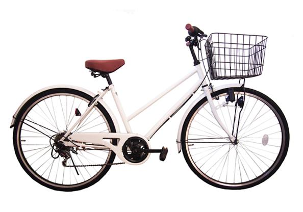 シティサイクル シマノ6段変速ギア付き 27インチ LP-276TD