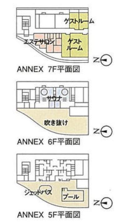 アーバンドックパークシティ豊洲アネックス棟の配置図
