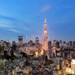 パークコート麻布十番ザ・タワーのお部屋からみた東京タワービュー