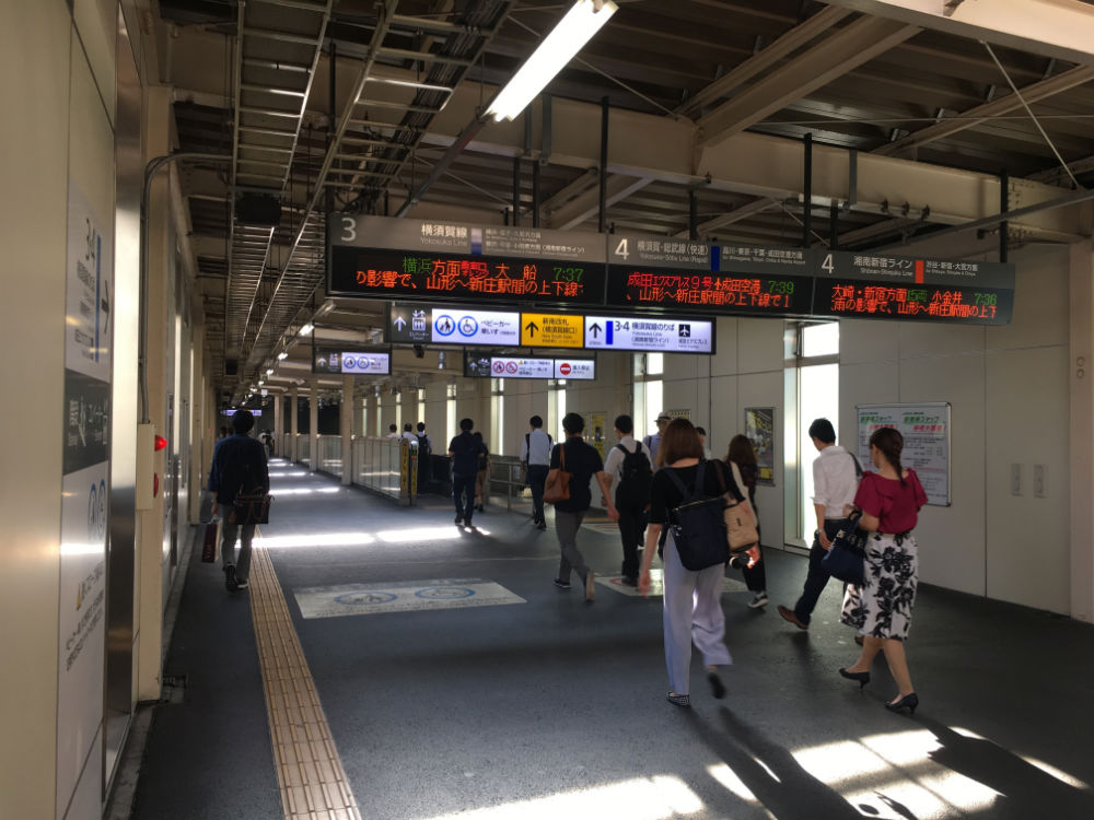 JR南武線とJR湘南新宿ラインJR横須賀線をつなぐ通路