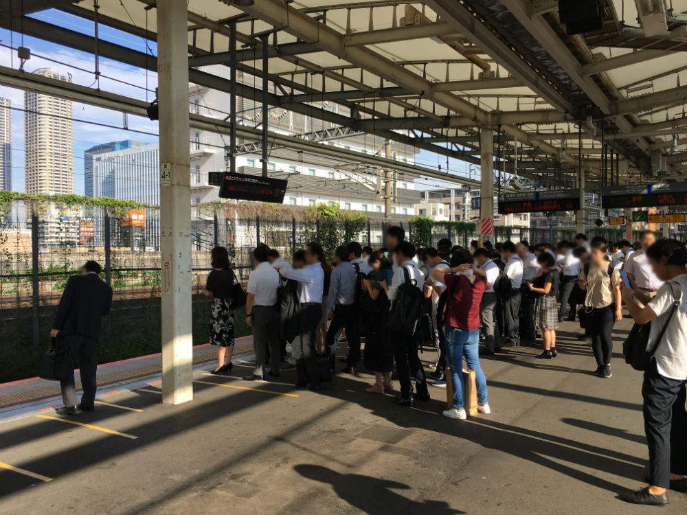 JR湘南新宿ラインJR横須賀線のホーム